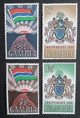 Gambia (1965) Independence / Flags / Coat of Arms / National Emblem - Mint (MNH)