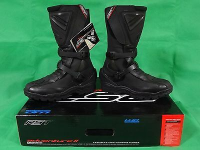 NEW RST Adventure 2 Waterproof Touring Boots Motorbike Motorcycle Black Size 9