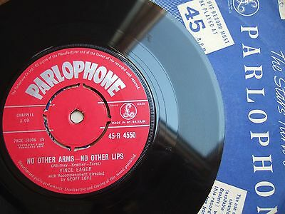 """Vince Eager - No Other Arms - No Other Lips - Uk 7"""" Parlophone R 4550 / 1959"""