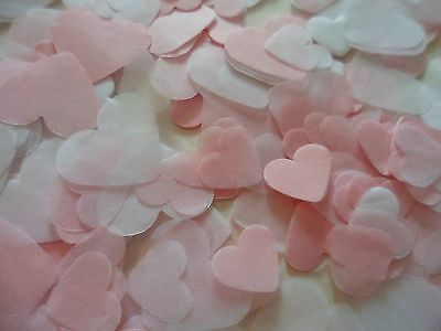Pink and White Hearts, Wedding Biodegradable Confetti/Party/Up to 3 Litres