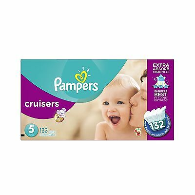 Pampers Cruisers Diapers Size 5 132 count Size-5, 132-Count New
