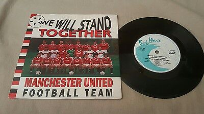 """Manchester United Football Team We Will Stand Together 7"""" Single P/s 1990 Mufc"""