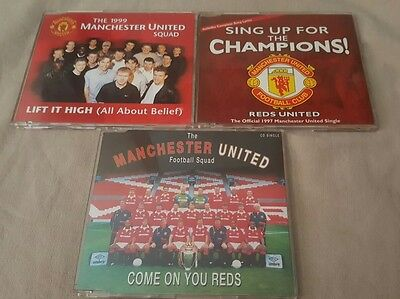 3 X Manchester United Cd Singles Lift It High / Come On You Reds / Sing Up Mufc