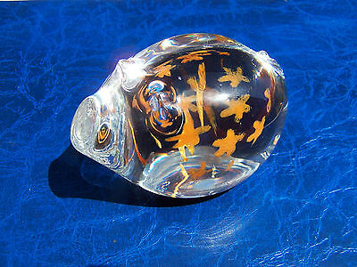 Rare Caithness Glass Paperweight - Truffle The Pig - In Excellent Condition