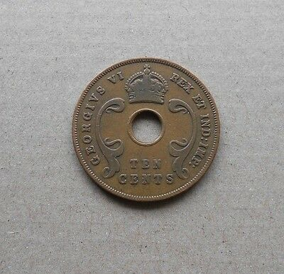 British East Africa 10 Cents 1942 George VI Bronzemünze ! Nr.76 ! TOP !
