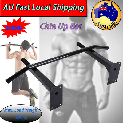 Wall Mounted Strength Traning Chin Up Pull Up Bar Boxing Stand Gym Suspension AU