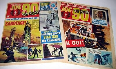 COMPLETE 1960's JOE 90 COMIC COLLECTION 34 ISSUES plus ANNUALS & BOOKS