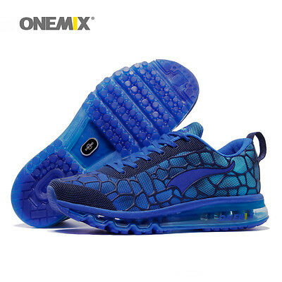 ONEMIX Running Shoes Men Air Athletic Breathable Mesh Sneakers Blue Sport shoes