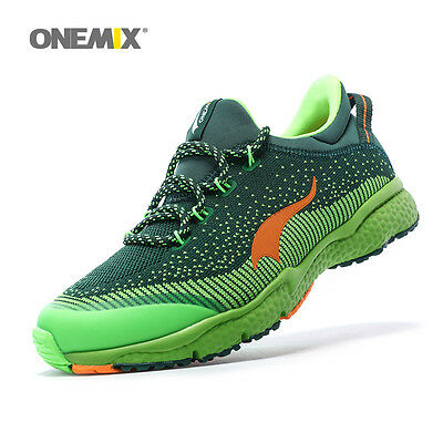 ONEMIX Men Running Shoe Male Athletic Shoes Good Sport Sneakers In Green Sneaker