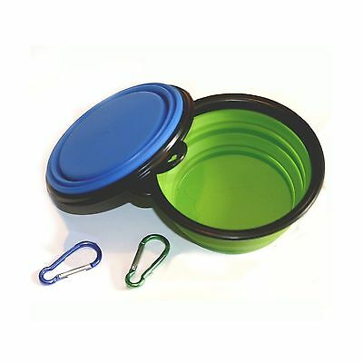 Comsun 2-pack Collapsible Dog Bowl Food Grade Silicone BPA Free Foldable ... New