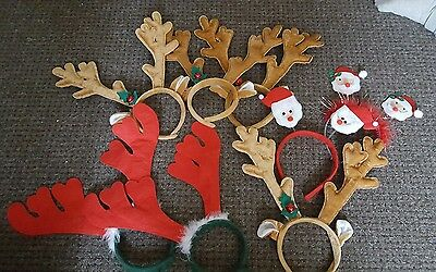 job lot of christmas headbands