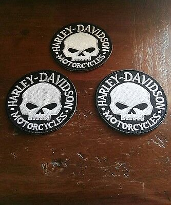 Toppe Patch Ricamate Termoadesive Harley Bikers Chopper Skull