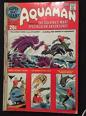 Aquaman Silver Aged Comic Super DC Giant   VG-F (Jul-Aug 1971, DC) Hot!