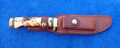 """Schrade-153UH-Uncle Henry-""""Golden Spike""""-Skinner with Sheath & Box-NIB"""