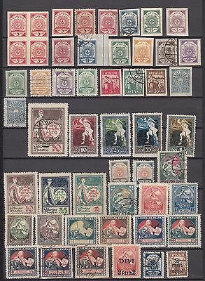 Latvia 1918-1941 Very Nice lot of USED and MH Stamps. Approx 150 stamps