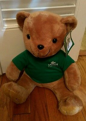 limited edition Lacoste plush Teddy bear Green Alligator Shirt Parfums with Tag