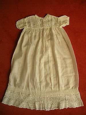 Lovely Victorian Christening Gown - Exquisite Ivory Silk & Embroidery