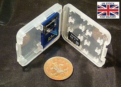 8 in 1 Plastic SD/MS, Micro SD card holder - UK STOCK - BRAND NEW