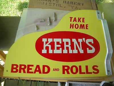 Kerns Bread door push sign with hardware NOS,RARE UNOPENED BOX OF 10