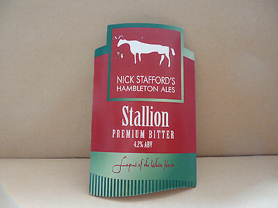 Nick Staffords Stallion Ale Beer bar Pump Clip collectable