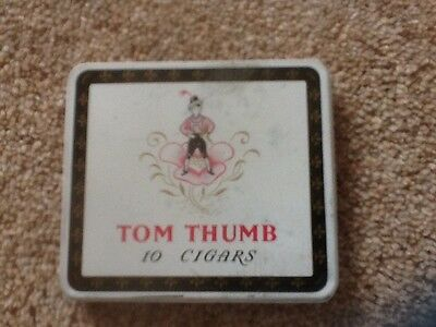 "Vintage/retro Tom Thumb 10 Cigar Tin ""collectable"""