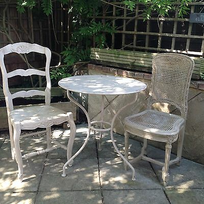 Antique French Chairs and Bistro Table. Courier avaialble