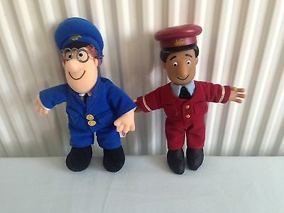 Genuine Postman Pat And Ajay Bains Plushes/ Beanies.
