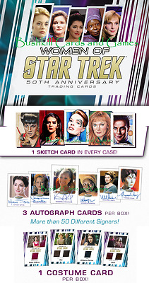 2017 Women of Star Trek 50th Anniversary Factory Sealed CASE (12 Box) w/ Sketch