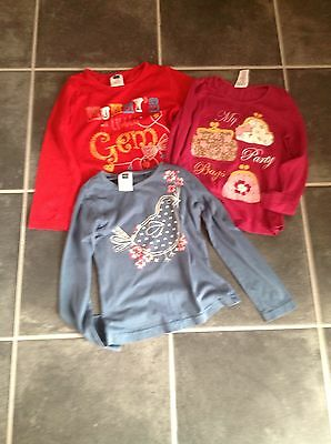 M & Co girls tops age 4-5 yrs