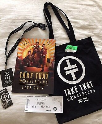 TAKE THAT Wonderland Tour 2017 VIP Merchandise and ORIGINAL TICKET