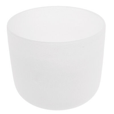 Root Chakra Crystal Singing Bowls C note Set High Quality Sound 7Inch White