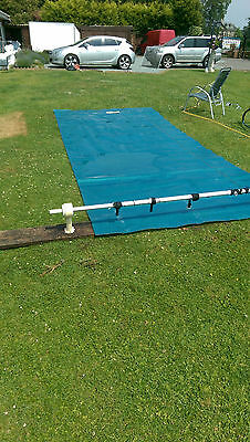 Swimming Pool Cover with wind up bar