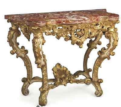 A Rare Pair Of South European  Console Tables Mid 18Th Century Christie's Piece