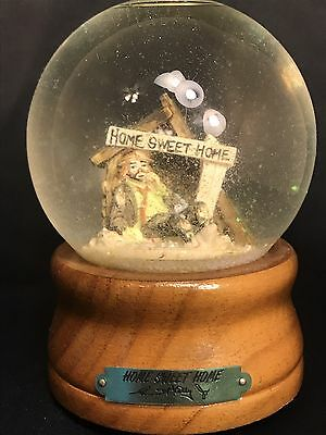 """Snow Globe: Rare Emmett Kelly Jr Home Sweet Home  Musical Plays """"Country Roads"""""""