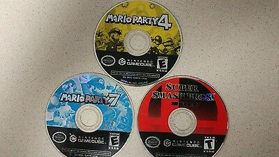 3 Mario GameCube games ( disc only)