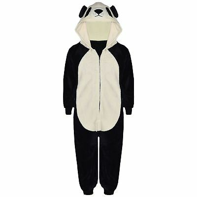 Kids Girls Boys A2Z Onesie One Piece Soft Fluffy Panda Halloween Costume 7-13 Yr