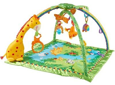 FISHER-PRICE Rainforest/Jungle Baby Play Mat/Gym with lights and sounds
