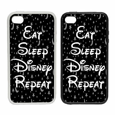 WTF | Eat Sleep Disney Repeat | Rubber or plastic phone cover case | #1 Walt