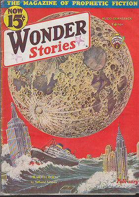 C1 WONDER STORIES 02 1933 SF Pulp PAUL Nathan SCHACHNER Neil JONES Manning