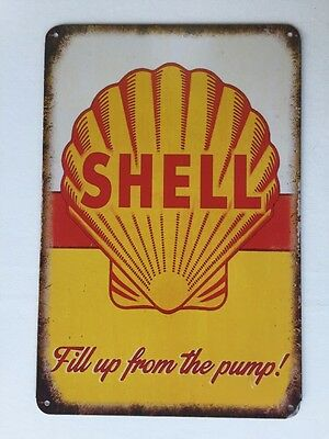 Shell Vintage Retro Metal Tin Sign Plaque Garage Bar Pub Club Home Decor Au