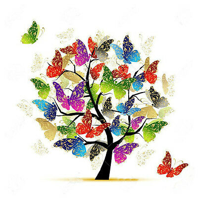 BUTTERFLY TREE FULL DIAMOND PAINTING KIT 5D CROSS STITCH MOSAICS 20x20CM