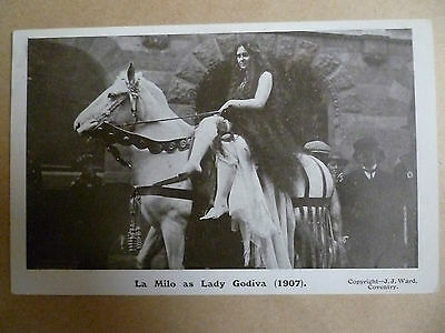 Theatre Actors Postcard- LA MILO as LADY GODIVA 1907