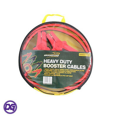 Heavy Duty Car Battery Booster Cables 2M Tangle Free Fully Insulated 500 AMP