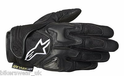Alpinestars Scheme Kevlar Black Short Urban Motorcycle Reinforced Gloves