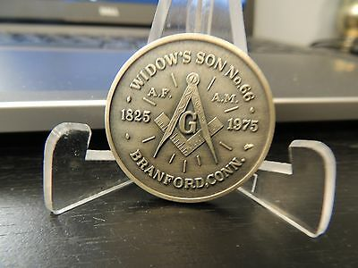 VINTAGE 1975 150th ANNIVERSARY MASONIC LODGE 66 Widows Son Sterling Coin