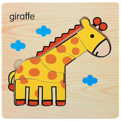Wooden Lovely Puzzle Educational Developmental Baby Kids Training Toy Gift*28