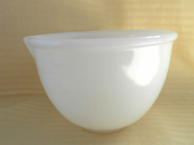 Vintage White Glass Mix Master Small Bowl with Pouring Spout Size 21
