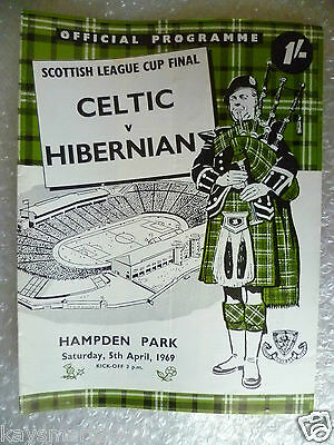 1969 Scottish League Cup FINAL CELTIC v HIBERNIAN, 5th April