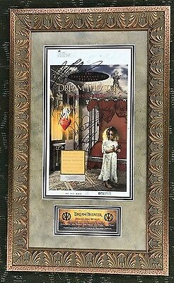 DREAM THEATER Images & Words Promo Art Signed Autograph ONE OF A KIND FRAMED JSA
