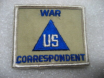 US Army Air Force Patch AAF WAR CORRESPONDENT